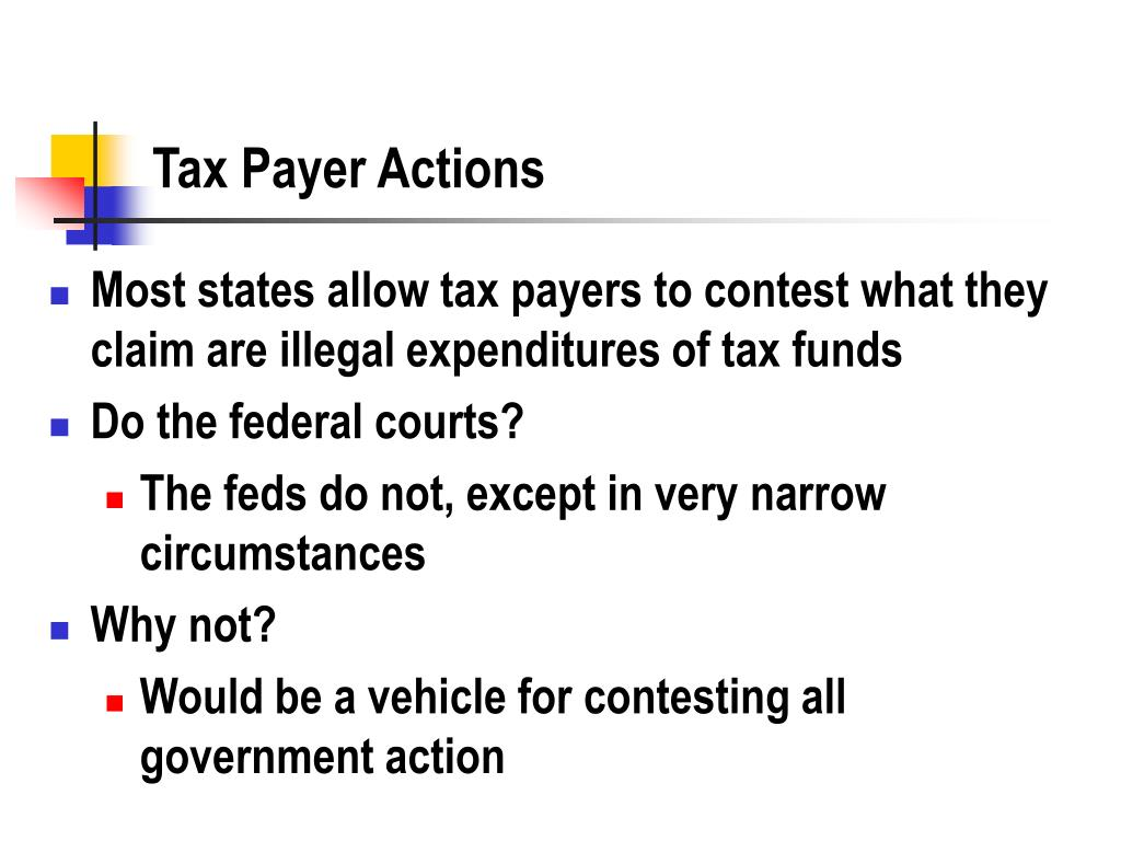 Tax Payer Actions