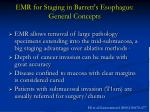 emr for staging in barrett s esophagus general concepts
