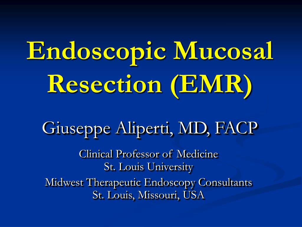 endoscopic mucosal resection emr l.