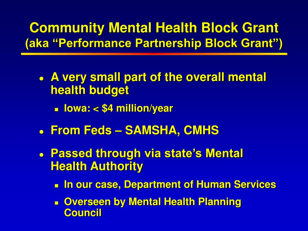 Community Mental Health Block Grant