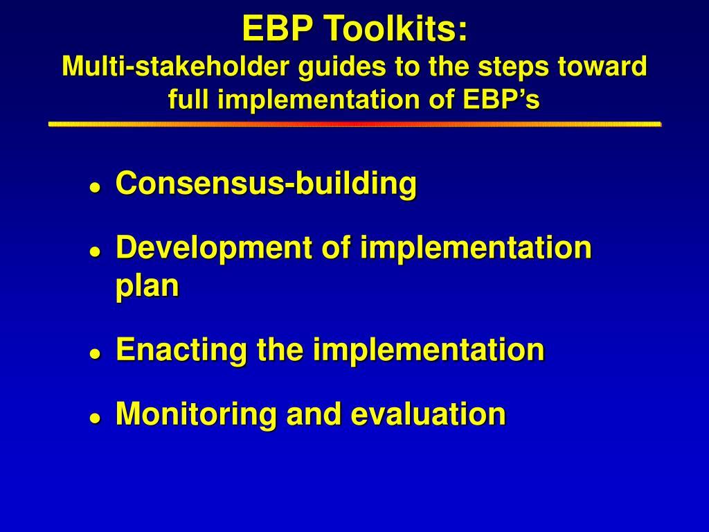EBP Toolkits: