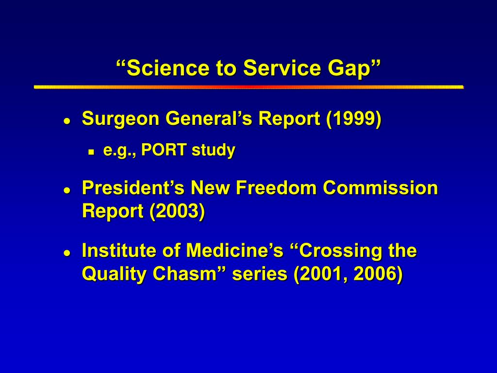 """""""Science to Service Gap"""""""