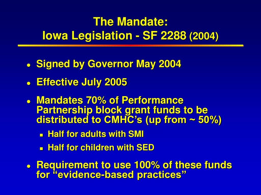 The Mandate: