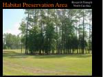 habitat preservation area