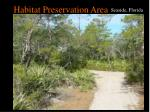 habitat preservation area29