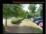 parking screen