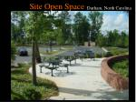 site open space