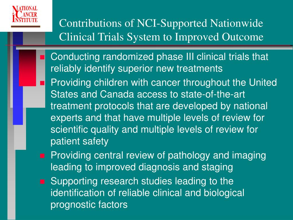 Contributions of NCI-Supported Nationwide Clinical Trials System to Improved Outcome
