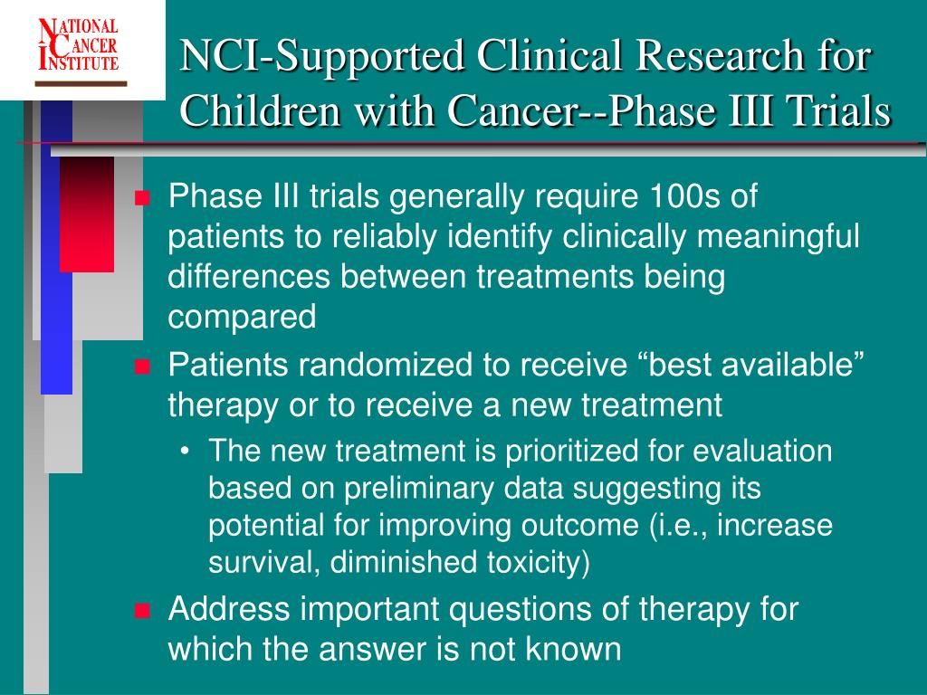 NCI-Supported Clinical Research for Children with Cancer--Phase III Trials