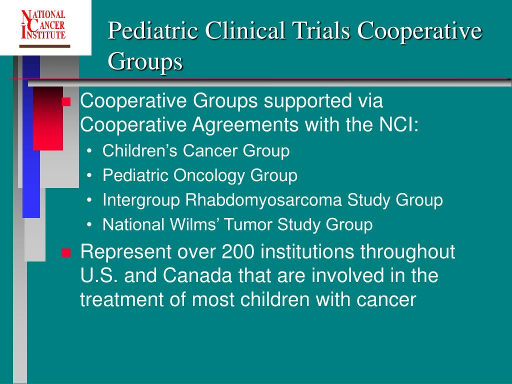 Pediatric Clinical Trials Cooperative Groups