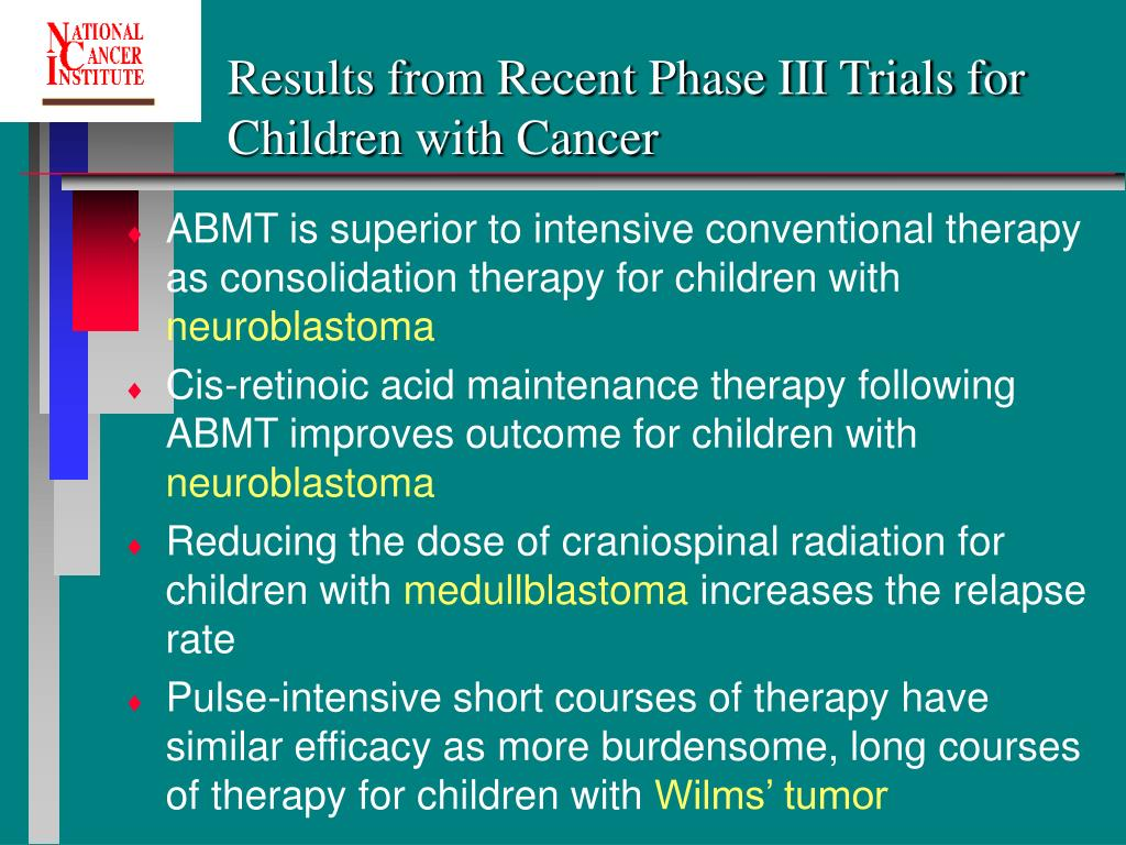 Results from Recent Phase III Trials for Children with Cancer