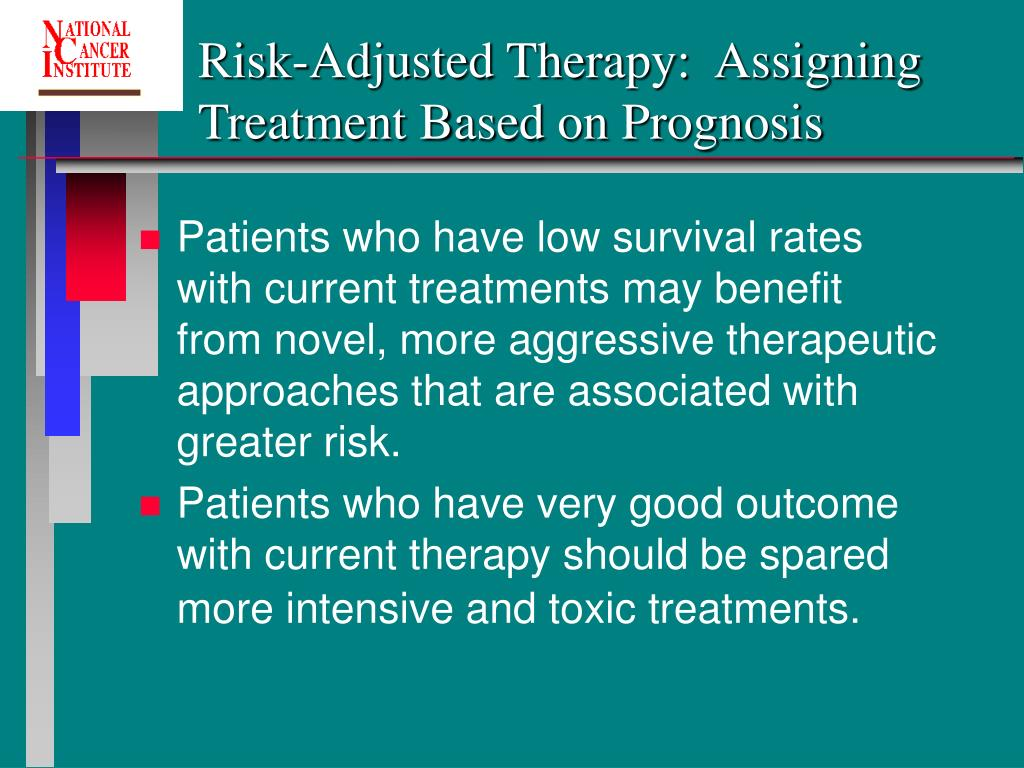 Risk-Adjusted Therapy:  Assigning Treatment Based on Prognosis