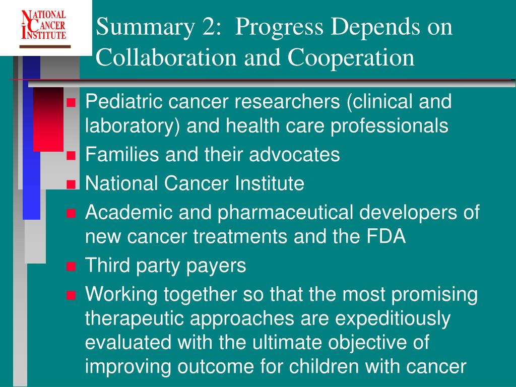Summary 2:  Progress Depends on Collaboration and Cooperation