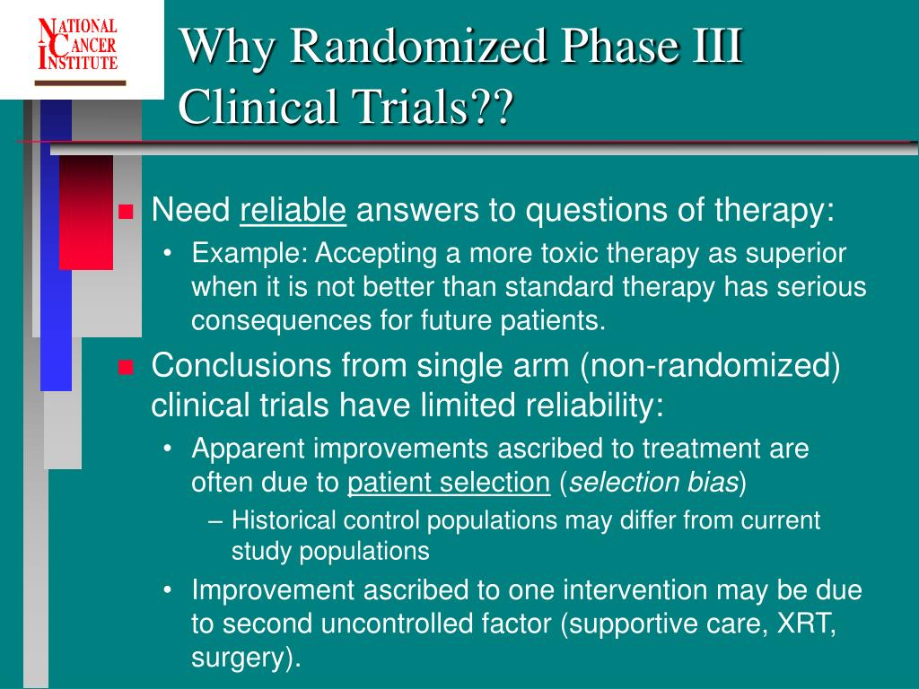 Why Randomized Phase III Clinical Trials??