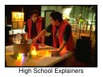 high school explainers