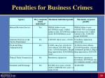 penalties for business crimes