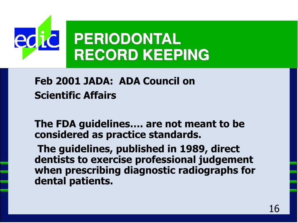 Feb 2001 JADA:  ADA Council on