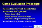 coma evaluation procedure35