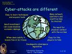 cyber attacks are different