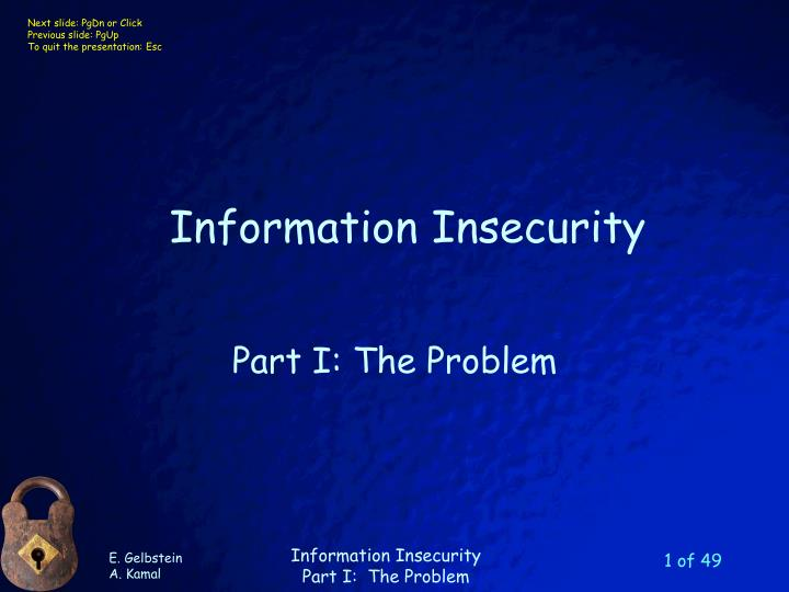 information insecurity n.