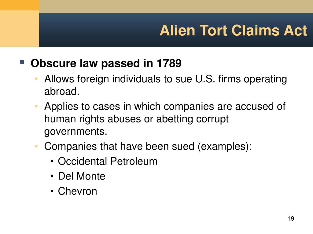 Alien Tort Claims Act