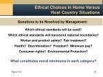 ethical choices in home versus host country situations23