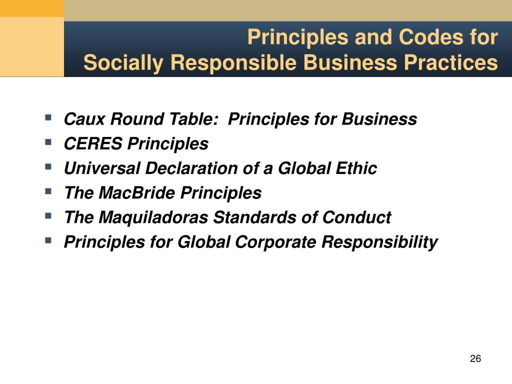 using three ethical principles global business standards codex Implementation of the global business ethics principles enables hasbro to ensure that manufacturing facilities involved in the production of hasbro products understand and adhere to hasbro's requirements in this area.