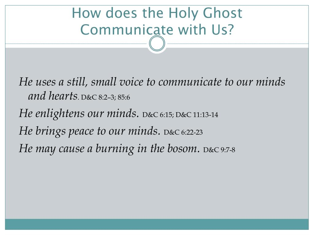 How does the Holy Ghost Communicate with Us?