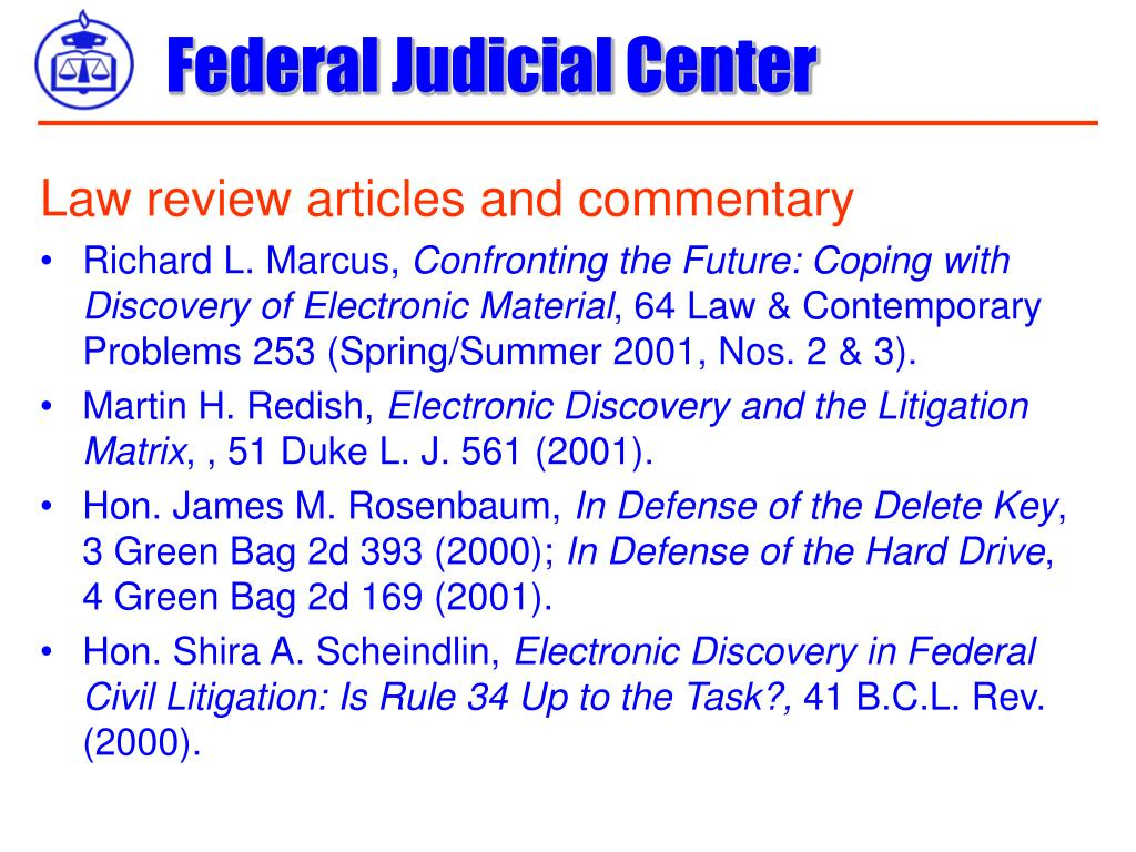 Law review articles and commentary