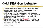 cold feg gun behavior
