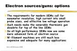 electron sources guns options