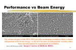 performance vs beam energy