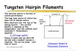 tungsten hairpin filaments