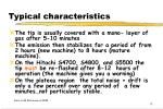 typical characteristics