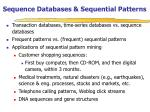 sequence databases sequential patterns
