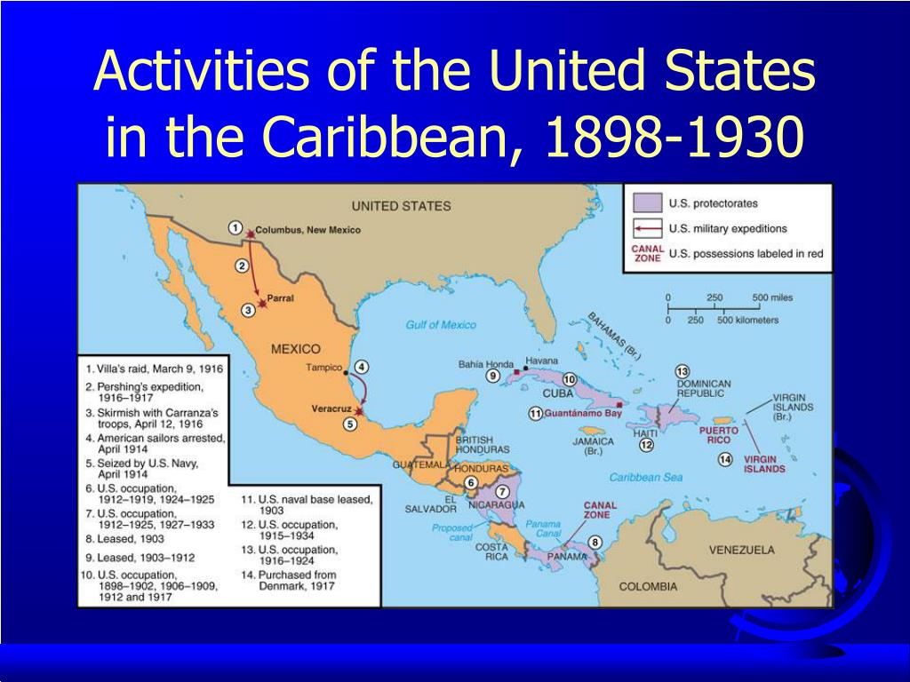 Activities of the United States in the Caribbean, 1898-1930