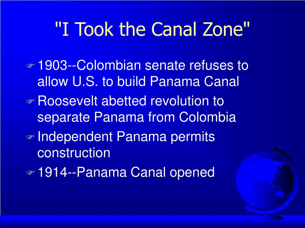 """I Took the Canal Zone"""