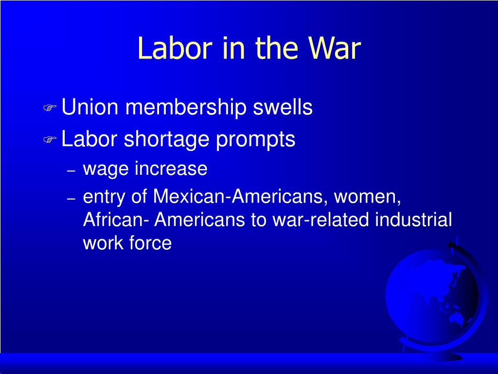 Labor in the War