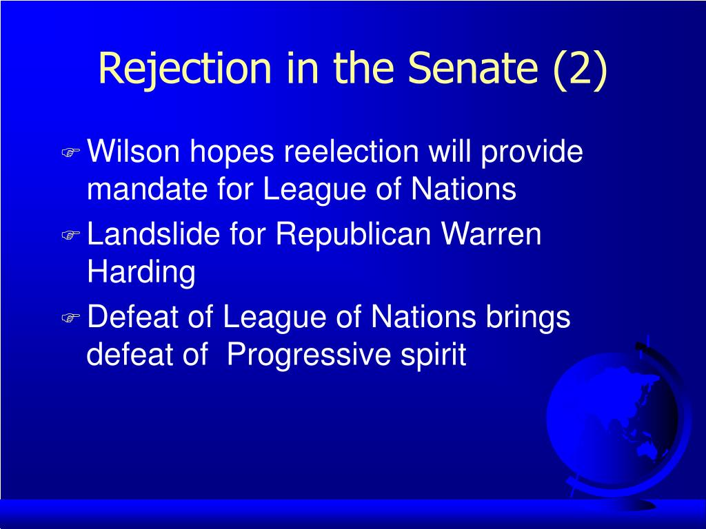 Rejection in the Senate (2)