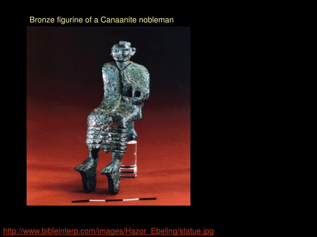 Bronze figurine of a Canaanite nobleman
