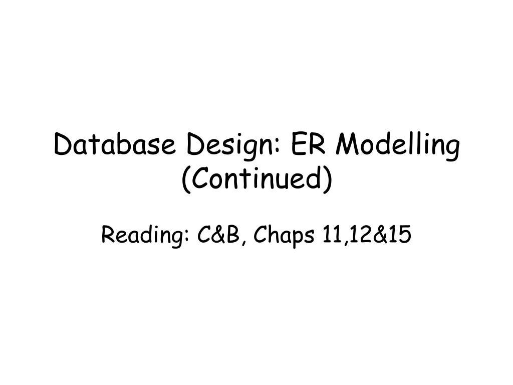 database design er modelling continued l.