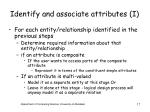 identify and associate attributes i