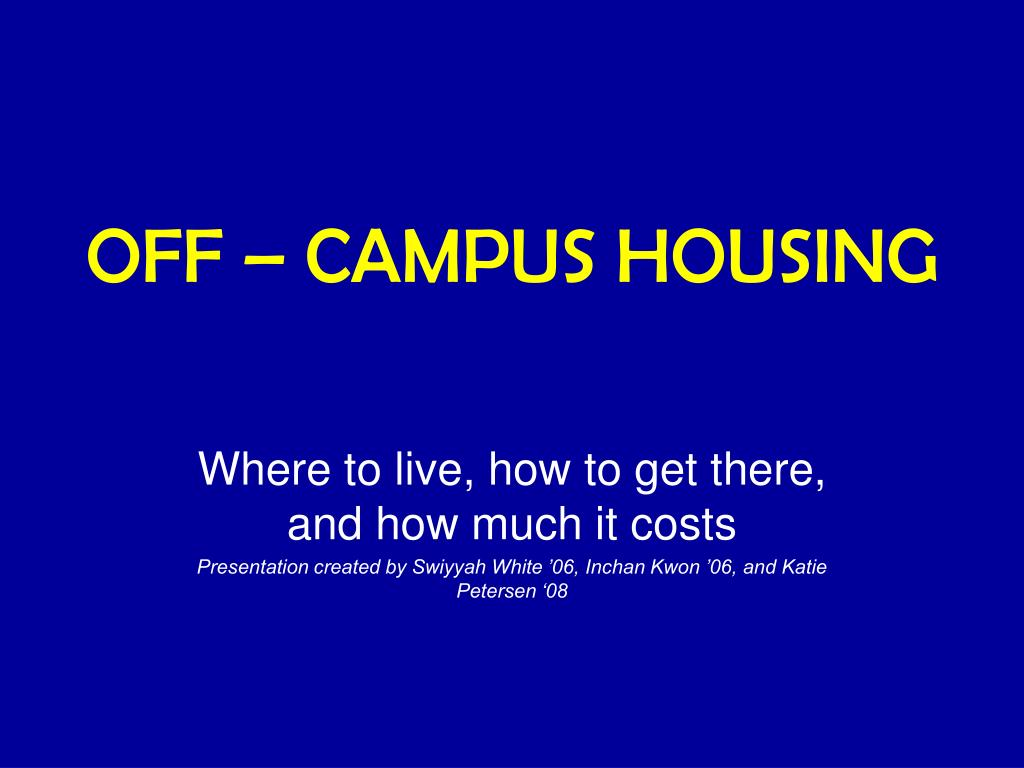 off campus housing l.
