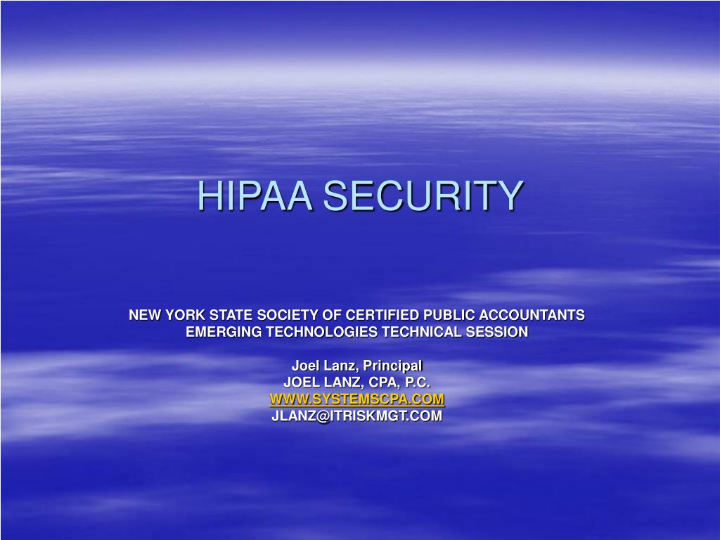 hipaa security l.