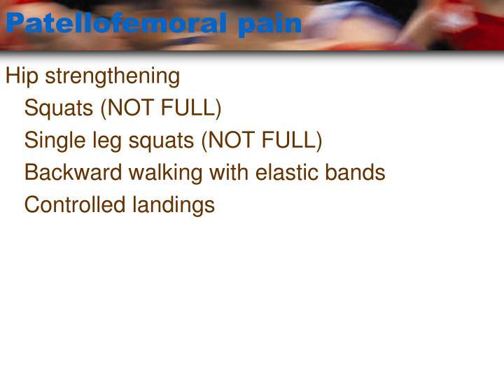 Patellofemoral pain3