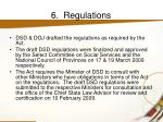 6 regulations