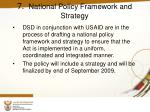 7 national policy framework and strategy