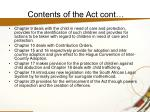 contents of the act cont9