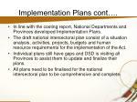 implementation plans cont14