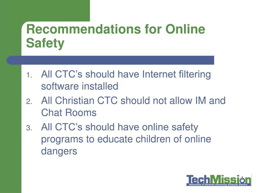 Recommendations for Online Safety